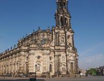 德累斯顿Hofkirche 免版税图库摄影