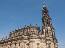 德累斯顿Hofkirche 免版税库存图片