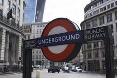 徽标地下伦敦 免版税图库摄影