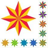 徽标星形向量 库存照片
