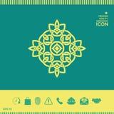 徽标 几何东方阿拉伯样式 您设计的要素 库存图片