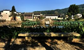 Summer landscape of Huipai village royalty free stock images
