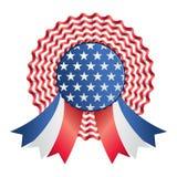 徽章丝带美国 免版税库存图片