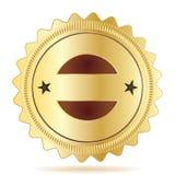 徽章保证模板 皇族释放例证