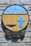 徽章努纳武特的 免版税库存照片