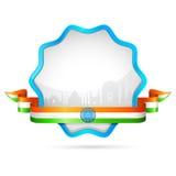 徽章印度 库存例证