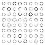 46徽章和商标占位符按钮框架 库存图片