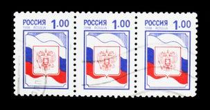 徽章和旗子, serie,大约1998年 免版税库存照片