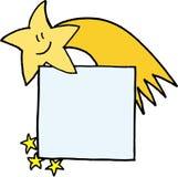 徽章圣诞节彗星名字 库存图片