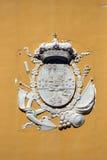 徽章在卡塔赫钠军事武库的在穆尔西亚,西班牙 免版税库存图片