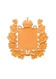 徽章在金子口气的 免版税图库摄影