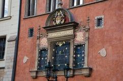 徽章壁画在布拉格 免版税库存图片