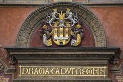 徽章市的布拉格 免版税库存图片