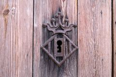 徽章市的门的锁的巴伦西亚 免版税库存照片