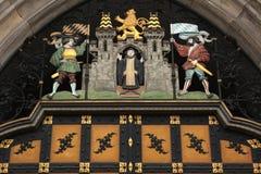 徽章慕尼黑的Neues的Rathaus 免版税库存照片