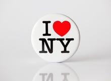 徽章我爱纽约 免版税库存照片