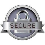 徽章打印安全万维网 库存例证
