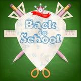 徽章有学校用品的 10 eps 免版税库存图片