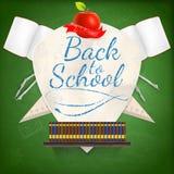 徽章有学校用品的 10 eps 免版税库存照片