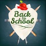 徽章有学校用品的 10 eps 图库摄影