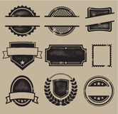 徽章标记印花税葡萄酒 库存照片