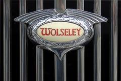 徽章汽车wolseley 免版税库存照片