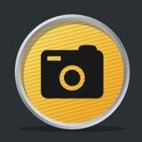 徽章照相机黑暗 免版税库存照片