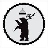 徽章熊 例证 库存照片