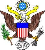 徽章美国的 免版税库存图片