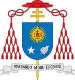 徽章豪尔赫马力欧Bergoglio (教皇弗朗西斯I)的 免版税库存图片