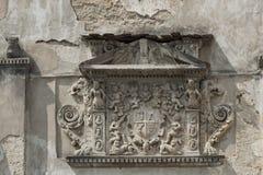 徽章Olesko城堡的在利沃夫州在乌克兰 库存照片