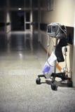 心动电描记器在医院 免版税图库摄影