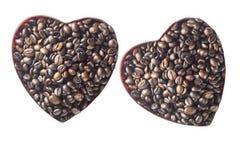 心形的咖啡 免版税库存照片