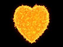 心形的太阳 免版税图库摄影