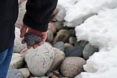 心形的岩石 免版税库存照片