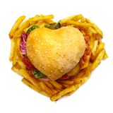 心形的汉堡包 库存图片