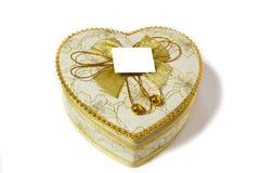 心形的箱子。 免版税库存照片