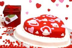 心形的蛋糕 库存照片