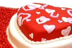 心形的蛋糕 免版税库存照片