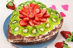 心形的蛋糕 免版税库存图片