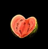 心形的西瓜 免版税库存图片
