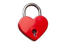 心形的闭合的锁 免版税库存照片