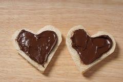心形的面包情人节概念 库存照片