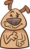 心情愚蠢的狗动画片例证 免版税库存图片