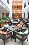 心房自助餐厅旅馆 免版税库存照片