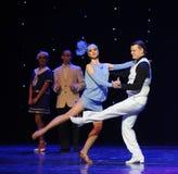 心照不宣的了解减速火箭的舞蹈这奥地利的世界舞蹈 免版税库存图片