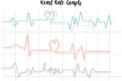 心率图表由以图例解释者crated 向量例证