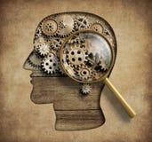 心理学概念3d例证 免版税库存图片