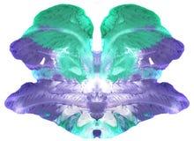 心理学测试-抽象相称艺术-能使用作为医疗心理学测试和作为设计为T恤杉,杯子,日历- Bl 免版税图库摄影