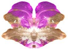 心理学测试-抽象相称艺术-能使用作为医疗心理学测试和作为设计为T恤杉,杯子,日历- Bl 免版税库存照片